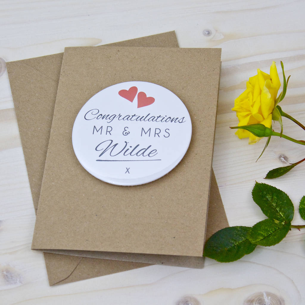 Wedding Congratulations Magnet Card By Bedcrumb Notonthehighstreet Com