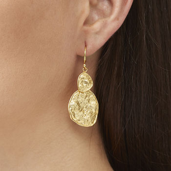 Gold Boho Coin Earrings