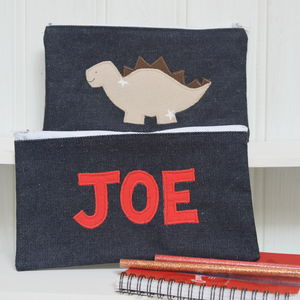 Personalised Dinosaur Pencil Case - stationery