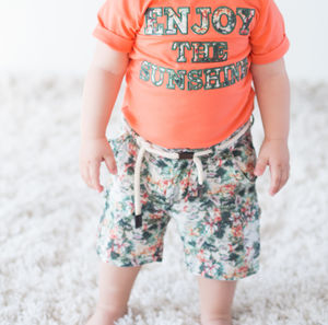 Linen Baby Boy Shorts - clothing