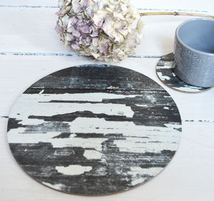 Round Monochrome Placemats, Set Of Four
