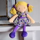Babies' Personalised Peggy Rag Doll