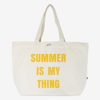 Summer Is My Thing Women's Oversized Organic Tote Bag