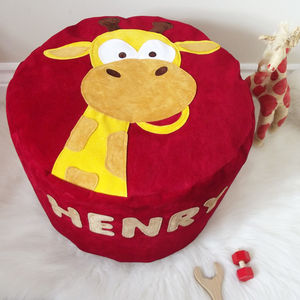 Animal Character Personalised Bean Bag Beanbag - gifts for babies & children