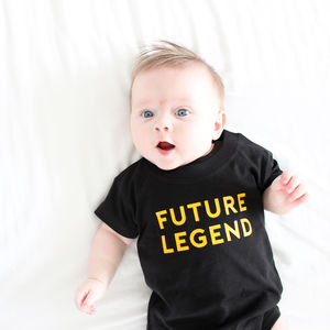 'Future Legend' Babygrow Or T Shirt