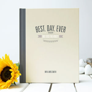'Best Day Ever' Wedding Guest Book - albums & guest books