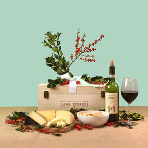 Italian Cheese And Chianti Hamper - new in food & drink