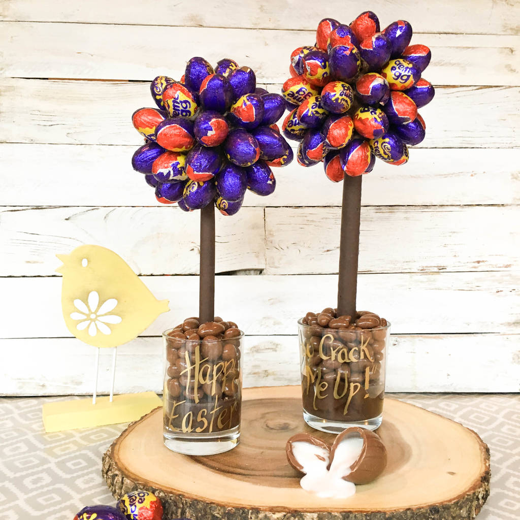 how to make a creme egg tree