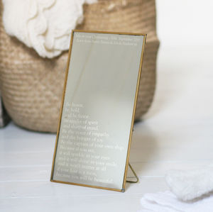 Personalised Copper Christening Mirror - home accessories