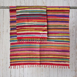 Handloomed Cotton Rag Rugs - rugs & doormats