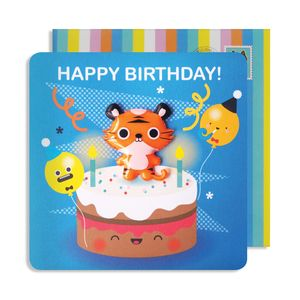 Birthday Tiger Jelly Magnet Cards