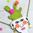 Plant Lady Potted Cactus Necklace
