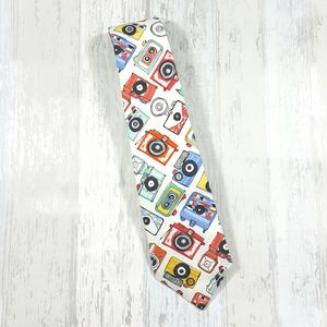 Camera Novelty Print Neck Tie