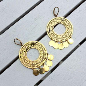 Gold Boho Necklace Hoops Jewellery