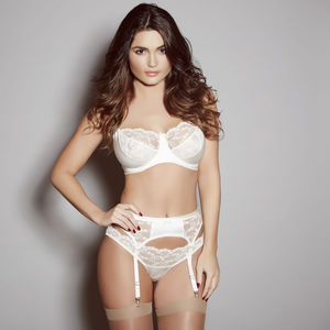 Ivory Silk And French Lace Sophia Bra - women's fashion