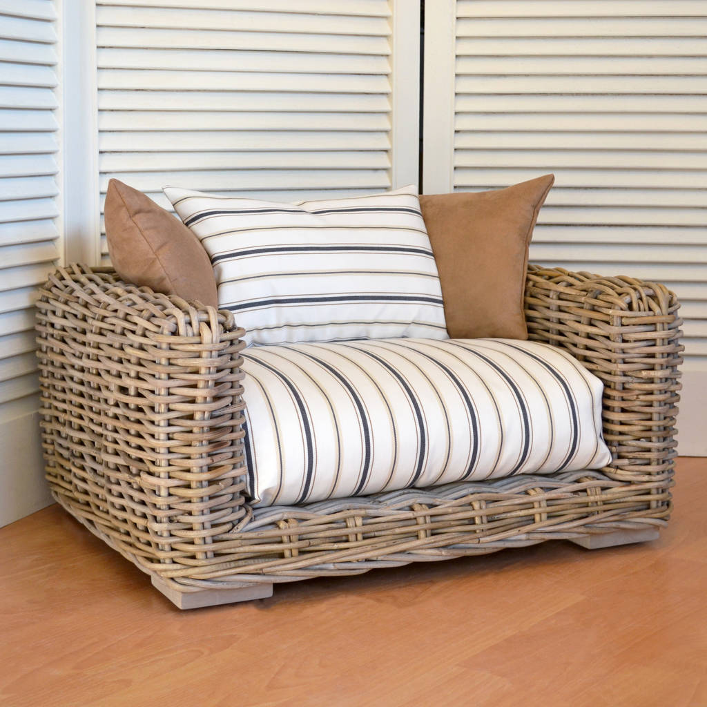 The Willow Luxury Rattan Pet Bed By Cosy Chic Pet Boutique Notonthehighstreet Com