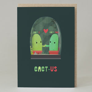 'Cact Us' Fun Valentine's Card