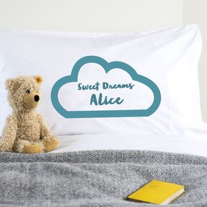 Personalised Children's Pillow Case Sweet Dreams