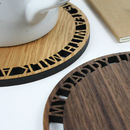 Personalised Wooden Round Tea Or Coffee Coaster