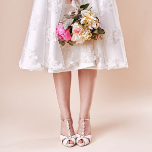 Ivory Wedding Platform Shoes Naomi - women's fashion