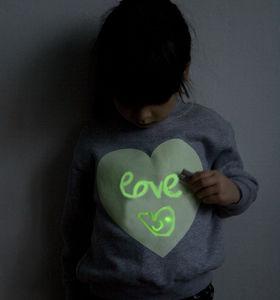 Heart Print Glow In The Dark Interactive T Shirt
