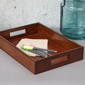 Leather A4 In Tray - whats new