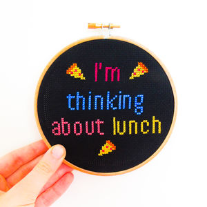 'I'm Thinking About Lunch' Cross Stitch Kit