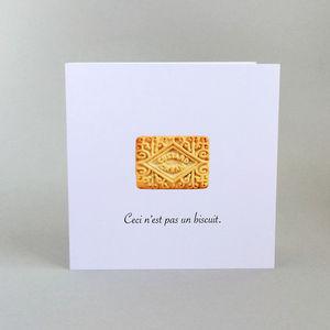 'Ceci N'est Pas Un Biscuit' Greetings Card