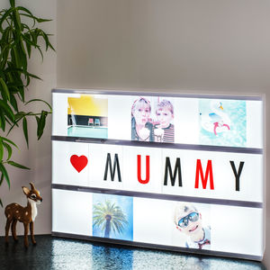 Personalised Photo Cinema Lightbox - lighting