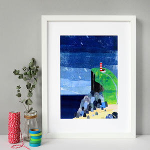 Song Of The Sea Collage Print - nature & landscape