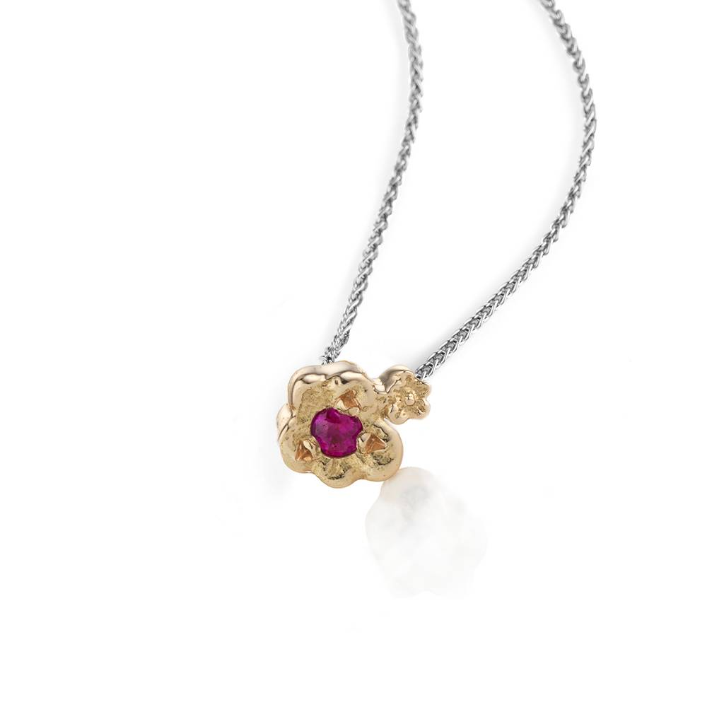 petal silver featuring necklace katy pendant daisy a jane brass product