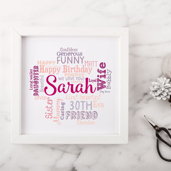 Personalised 30th Birthday Gift For Her