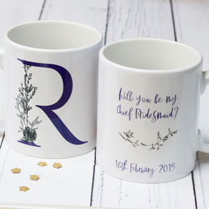Will You Be My Bridesmaid Personalised Mug