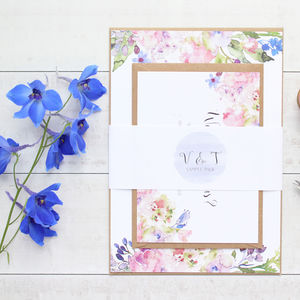 Violet Blossom Wedding Invitation Sample Pack