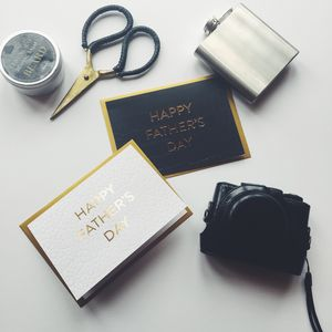 Stylish Father's Day Luxury Gold Foil Card - father's day cards