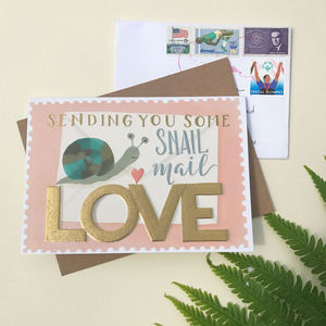 Snail Mail Love Note Card - postcards