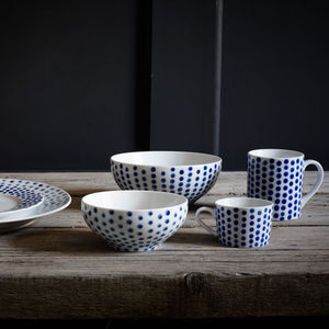 Hand Painted Herringbone Ceramics