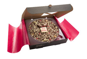 Christmas Chocolate Pizza - novelty chocolates