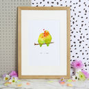 Mr And Mrs Love Birds Art Print