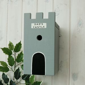 Personalised Castle Bird Box