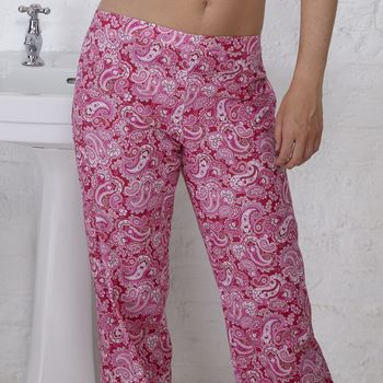 Organic Cotton Paisley Pyjama Pants