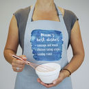 Personalised You're The Best Water Colour Apron