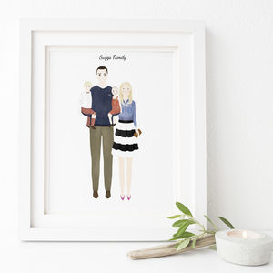 Personalised Wedding Couple Or Family Portrait - paintings
