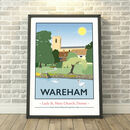 Lady St Mary Church, Wareham Dorset Print