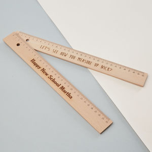 Personalised Large Wooden Ruler