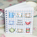 Personalised Tea Cup Notebook