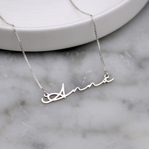 Signature Handwriting Necklace - jewellery