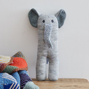 Elephant Soft Knit Toy