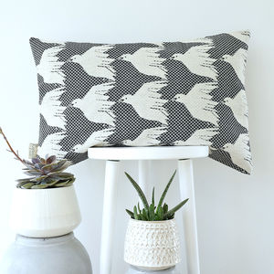 Bird Pattern Woven Jacquard Cushion Cover