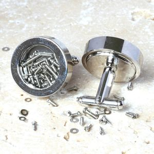 Nuts And Bolts Cufflinks